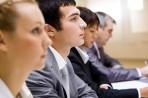 Schüler Ausbildung, Information Weiterbildung, Bewerbungsgespräch